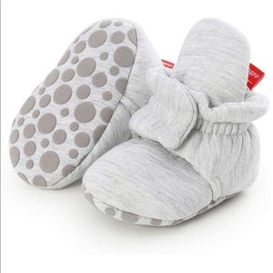 Babies non skid soft booties silver
